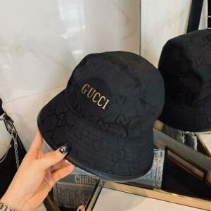 New Women's Bucket Hat Cap Sunhat Black Size M