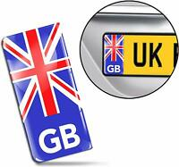 3D Gel UK Flag Union Jack GB License Number Plate Sticker Decal Badge Road QS 1