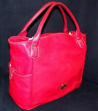 Dooney and Bourke Red Leather Kristen Extra Large Shopper Shoulder Tote