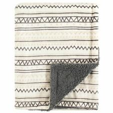 Hudson Baby Boy and Girl Mink Blanket with Sherpa Backing, Aztec