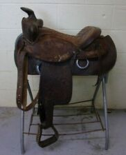 "BONA ALLEN - Western Pleasure/Trail Saddle - 15"" - Tooled - Quilted Seat - LOOK!"