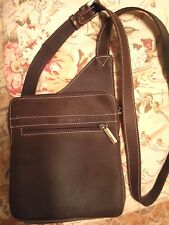 Arthur & Aston Brown Leather Crossbody Purse