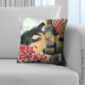London Robot Poster Cushion Japan 50s Super Retro Japanese Movie Film Pillow
