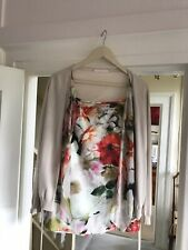 Basler Floral Two Piece Cardigan And Skirt