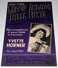 Partition vintage sheet music YVETTE HORNER : Miroir Andalou * Accordéon