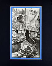 BATMAN A MOMENT To RELAX In The BATCAVE PRINT PROFESSIONALLY MATTED Alex Ross