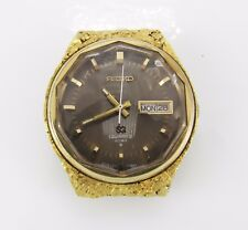 Seiko SQ Quartz 4004 embellished with Placer Gold Nuggets