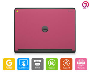 DELL Chromebook 11 Laptop Intel 2.16 4 Memory Touch Screen Webcam HDMI - Pink