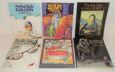 6 BOOKS THE FAR SIDE GALLERY 2,3,4,5, THE PRE-HISTORY OF GARY LARSON