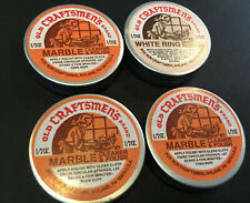 Old Craftsmens Cleaner Marble Polish Spot Remover 1/2 Oz Tin Great Lot Of 4