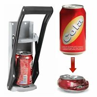 NEW 350ML LARGE BEER TIN CAN CRUSHER WALL MOUNTED RECYCLING TOOL BOTTLE OPENER
