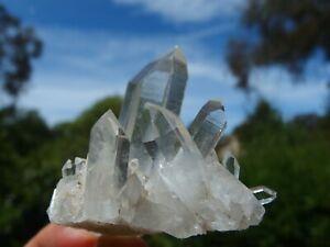 Himalayan Clear Quartz Crystal Cluster, Ganesh Himal, Nepal. 5.5 x 5 cm.