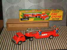 CRAGSTAN VINTAGE, FRICTION AERIAL LADDER FIRE ENGINE PERFECTLY WORKING W/BOX!