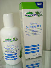 Herbal Skin Doctor Hair Away Natural Soothing Gel/Hair Inhibitor 100mls BNIB