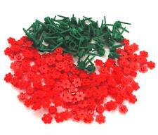 ☀️NEW! 100x NEW RED Lego Flowers Bulk Brick Flower Lot W/ stems