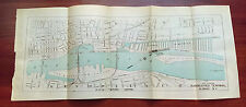 1911 Map of Suggested Terminal Albany NY Hudson River Patroons Lower Island RR