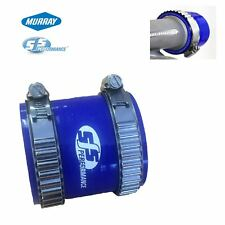 """2.5"""" Blue Silicone Coupling Connector & 2 Murray Turbo Constant Tension Clamps"""