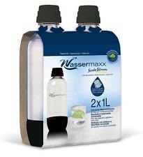 Soda Stream Wassermaxx Duopack PET Ersatzflaschen 1 Liter schwarz