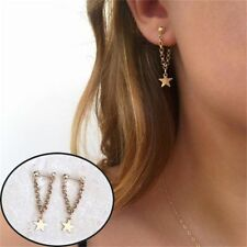 1Pair Punk Tiny Jewelry Long Tassel Chain Ear Studs Star Earring