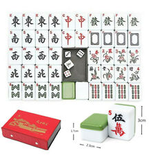Heavy Duty Portable Chinese Mahjong Rare Game 144 Tiles Traditional Mah-Jong Set