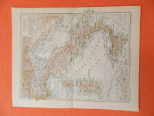 Italia Sardegna Toscana Calabria Puglia 3 vecchie carte geografiche del 1900