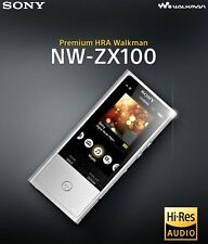 Sony NW-ZX100 Hi-Res Walkman Bluetooth Music Player with Noise Cancelation 128GB