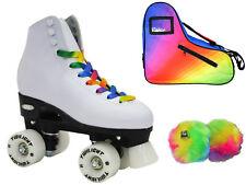 Epic Allure Twilight Led Light Up Quad Roller Skate 3 Pc. Rainbow Bag Bundle