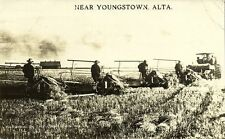 canada, YOUNGSTOWN, ALTA., Farming in the Canadian West (1915)  RPPC (1)