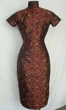 Vintage 1950s Chinese Silk Brocade Cheongsam Dress