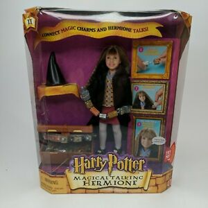 Vintage Harry Potter Magical Talking Hermione Doll 2002 NIB Mattel 55246