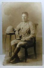 WWI British Army real photo postcard, warm weather uniform, shorts; WWI ?