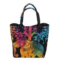 Indian 100% Cotton Elephant Mandala Handbag Women Hippie Tote Carry Shoulder Bag