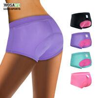 Ladies Cycling Shorts 4D Gel Padded MTB Bicycle Underwear Bike Underpants Women