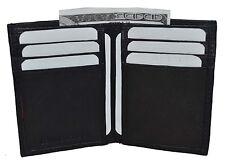 New Slim Thin Mens Bifold Genuine Leather ID Wallet Black Card Holder 71