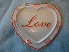 "Vintage Avon Heart ""Love"" Candle Dish/Wall Hanging, New in Box"