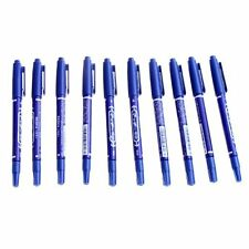 10 Stueck Doppelkoepfiger Tattoo Piercing Haut oelstift - Blau    DE