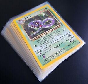 Pokemon Fossil Complete Common Uncommon Set Near Mint Condition X 32/62 Cards