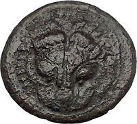 RHEGION Bruttium 351BC Lion Apollo Authentic Ancient Greek Coin RARE i51598