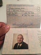 Obsolete Vintage 1985 United States Passport Handsome 60 Year Old Man
