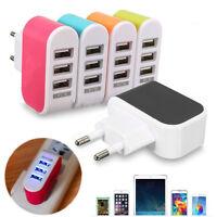 Universal 3 USB Ports Home Travel Wall AC Power Charger Adapters US/EU Plug YH