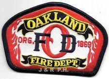 """Oakland  Fire Dept.  org.-1869, California  (4"""" x 2.75"""" size) fire patch"""