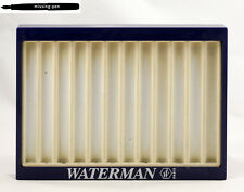 Used Waterman Tray / Tablett for 12 Pens in Blue - White (1)
