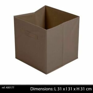Fabric Storage Cube 31X 31 X31 Cm Chocolate Brown