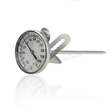 Stainless Steel Kitchen Espresso Coffee Milk Frothing Thermometer Clip Craft