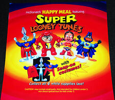 McDonalds Super Looney Tunes Happy Meal Toy Vintage Store Menu Translite Ad Sign