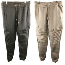 Mens Biker Joggers Athletic Games Running Tapered Sports PE Bottoms