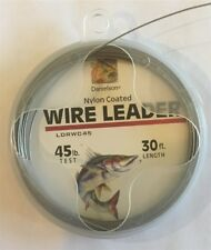 Danielson Nylon Coated Wire Leader 45 lb 30 yds, NEW