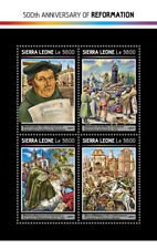 Sierra Leone 2018 MNH Reformation 500th Anniv Martin Luther 4v M/S Stamps