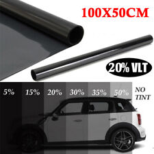 (50cm*1m) 20% VLT Black Auto Car Home Office Glass Window Tint Tinting Film Roll