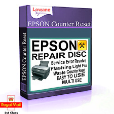 EPSON PRINTER WASTE INK PAD COUNTER RESET STYLUS PHOTO SERVICE ERROR FAULT CD